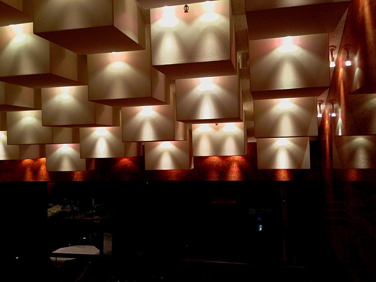 illuminated, indoors, lighting equipment, no people, night, red