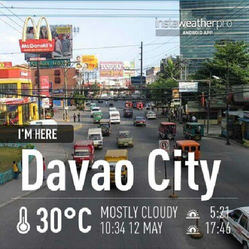 DavaoCity Weatherforecast 30C Mostlycloudy