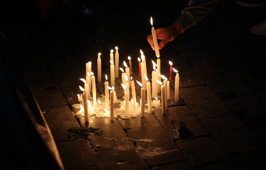 #candles #church #earthquakedrill #faith #Hannnn  #light #peace #praying First Eyeem Photo
