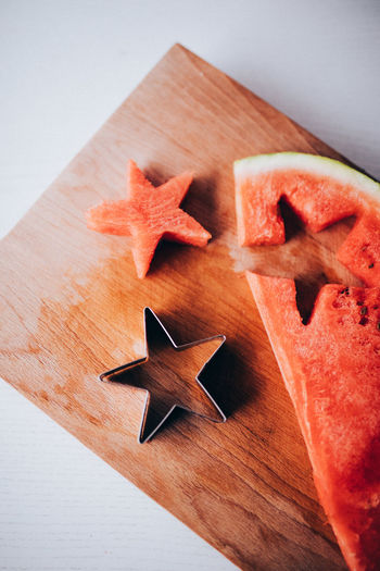 Christmas Cookies Winter Food Food And Drink Freshness Healthy Eating Indoors  No People Star Still Life Sweets Watermelon Wood - Material
