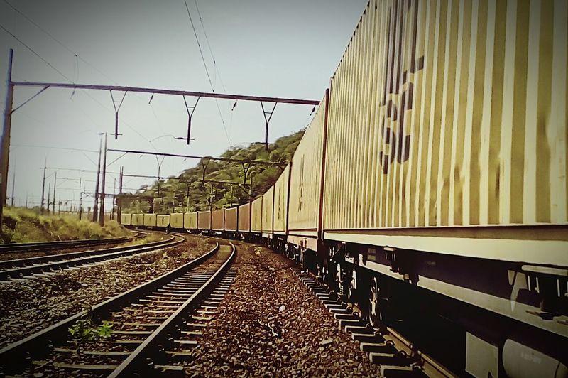 Rail Transportation Railroad Track Transnet Bayhead Durban South Africa Bluff