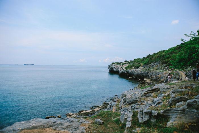 SICHANGISLAND Thailand Beach Beauty In Nature Cloud - Sky Day Idyllic Land Landscape Nature Outdoors Plant Rock Rock - Object Rocky Coastline Scenics - Nature Sea Sichang Sky Solid Thailandtravel Water