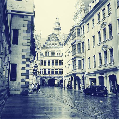Hello World Taking Photos Rain In Dresden.