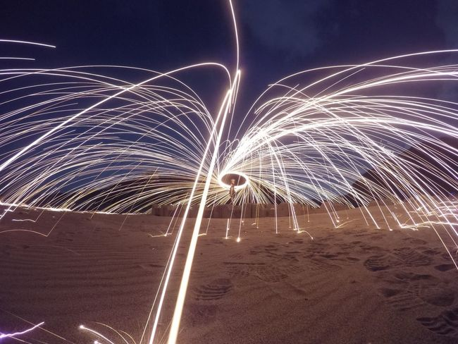 Illuminated Motion Night Glowing Arts Culture And Entertainment Long Exposure Celebration Firework Nature Sky Light Sparks Outdoors Burning Firework Display First Eyeem Photo