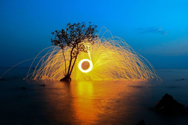 Steelwoll in Jepara's Beach Blue Water Beauty In Nature Sea Nature Long Exposure First Eyeem Photo