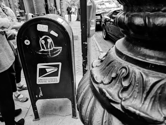 people still send mail yeah know Mailbox Sending A Letter Retro Graffiti Lamp Post Crosswalks EyeEm Selects Close-up Human Representation Stories From The City