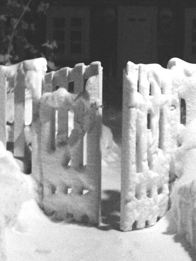 Black And White Cold Temperature Close-up Outdoors Winter Abstract January Powder Snow No Summer No People Fence Art Fence Gate Paling