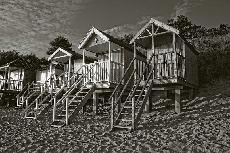 Beach Huts Wells-next-the-Sea Norfolk B&w EyeEm Best Edits EyeEm Best Shots Black And White Photography The Great Outdoors - 2015 EyeEm Awards Eye4photography  Shades Of Grey Landscapes With WhiteWall The KIOMI Collection The Great Outdoors With Adobe The Great Outdoors - 2016 EyeEm Awards Fine Art Photography