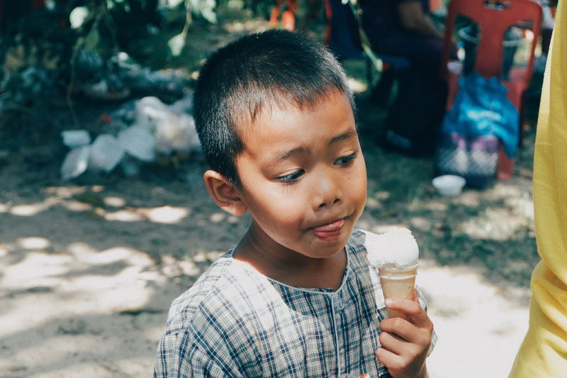 EyeEm Selects Ice Cream Frozen Food Child Ice Cream Cone Childhood Portrait Flavored Ice Drink Eating Happiness