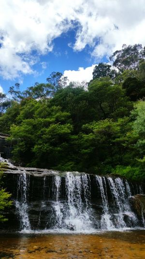 Waterfall Nature EyeEm Nature Lover Nature Photography Nature Lover Water Sky Sky And Clouds Greenery Beautiful Perfect Weather Flowing Outdoors Australia Nsw Mountains
