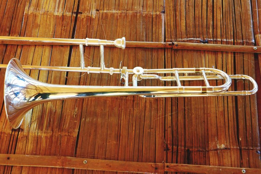 Trombone Musician Trumbone Musical Instrument Wood - Material Hanging Backgrounds Textured  Brown Close-up Wooden Musical Instrument String Woodwind Instrument Brass Instrument  Wind Instrument Fretboard Musical Equipment Wood Paneling Post Weathered Piano Key Corrugated Iron Piano Rusty