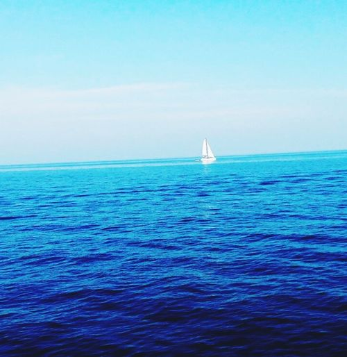 Sea Water Horizon Over Water Scenics Beauty In Nature Nature Transportation An Eye For Travel