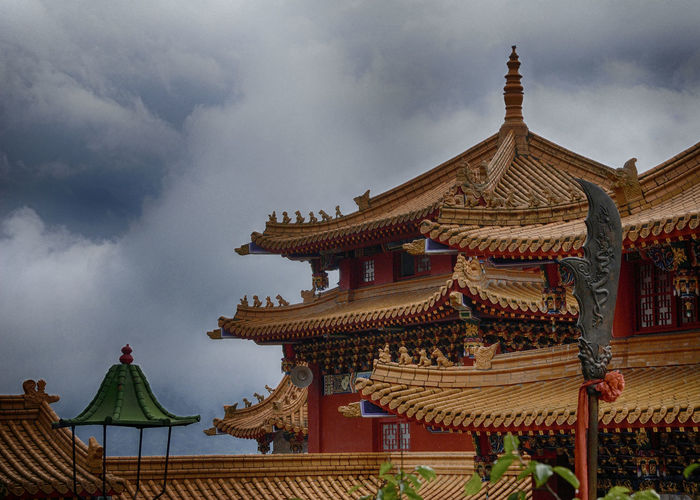 Temple in the mountains of Taiwan. Architectural Feature ASIA Asian Architecture Mountain Temple Religion Taiwan Temple - Building