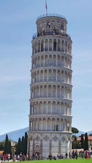Architecture Blue Built Structure Culture Day Famous Place History International Landmark Italy Leaning Tower Outdoors Pisa Pisa Tower Pisa, Italy Sightseeing Sky The Past Toskana Tourism Tourist Tourist Attraction  Tourist Destination Tourist Spot Travel Destinations Vacations