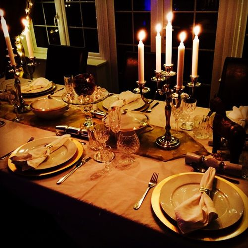 Christmas The Formal Dinner Party Supper Posh Gentlemen Aristocrat Posh British English Classy