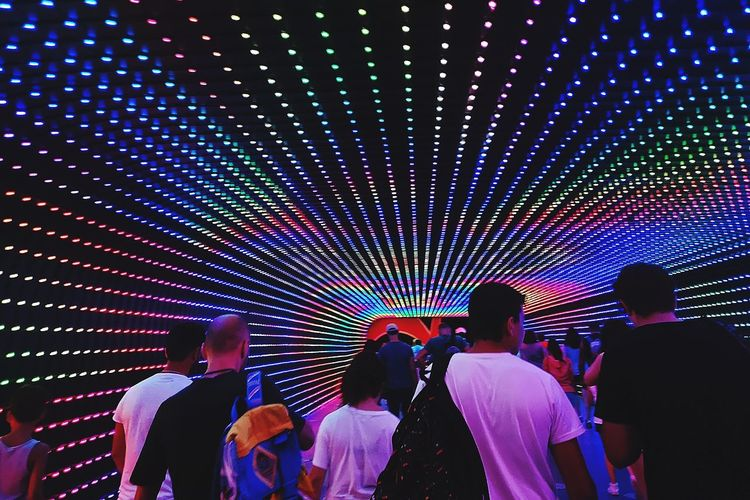 Childhood Multi Colored Nightlife Illuminated Crowd Disco Lights Party - Social Event Nightclub Enjoyment Entertainment Summer In The City Be Brave #urbanana: The Urban Playground