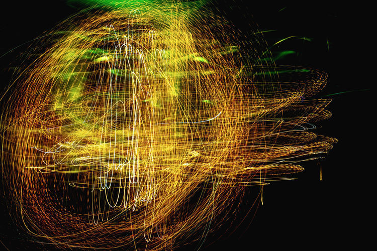 Abstract image of light painting against black background