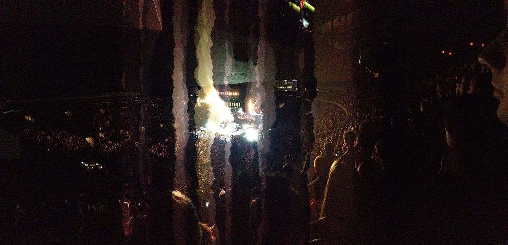 Showing Imperfection Fleetwoodmac Madisonsquaregarden New York Panorama Mistake IPhoneography