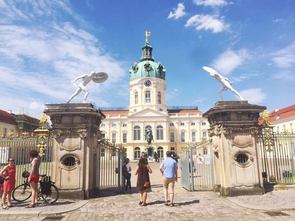 Beautiful Castle Holiday Schloss Charlottenburg Berlin Histric Place People Sky Vacations