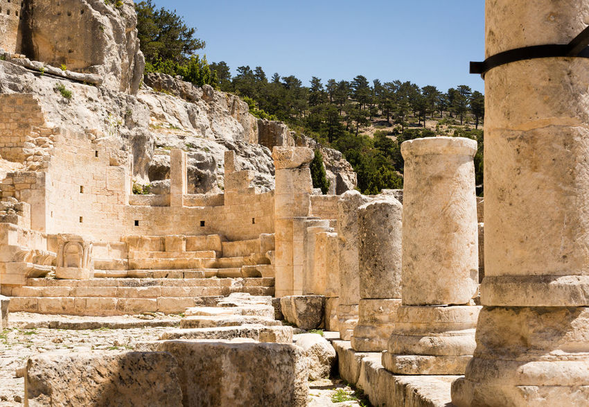 Alahan Monastery Ruins Alahan Alahan Monastery Ancient Ancient Civilization Archaeology Architectural Column Architecture Building Exterior Built Structure Byzantine Architecture Christianity History Icons Monastery Mut Old Ruin Outdoors Religious Architecture Religious Art Religious Icons Sky Stone Carving Stone Material Travel Destinations Tree