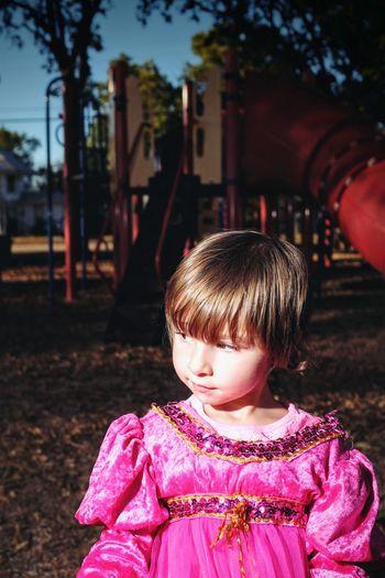 Close-up of girl on playground