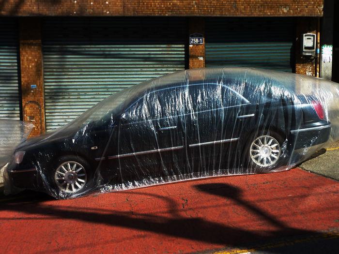 Car Car In A Bag Foil  Fresh Car Plastic Plastic Bag Plastic Wrap Protection Transparent Showcase: February The Street Photographer - 2016 EyeEm Awards