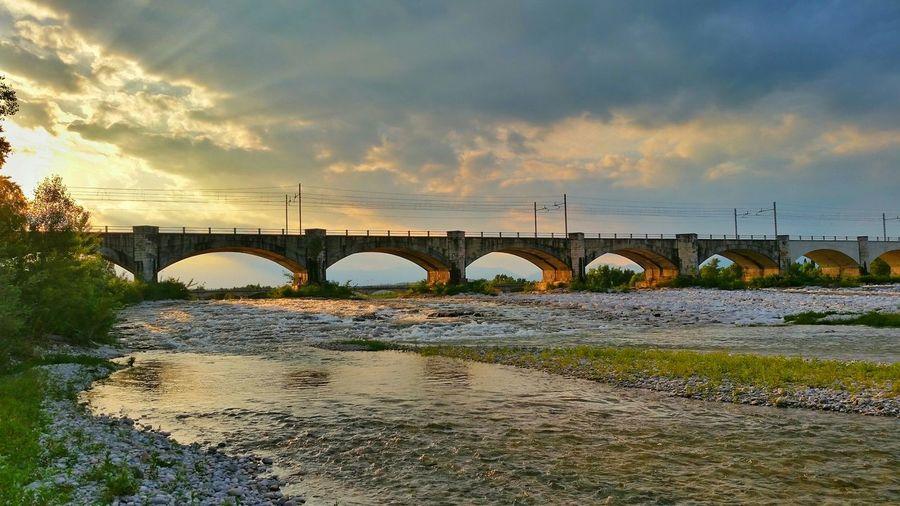Fiume Piave anniversary Landscape Sunset river Color Explosion bridge