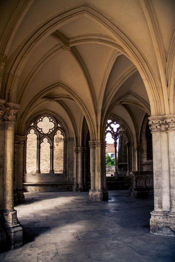 Arch Architecture Architecture Burgundy Church Colonnade Day France History No People Saint-Père-sous-Vézelay Summer
