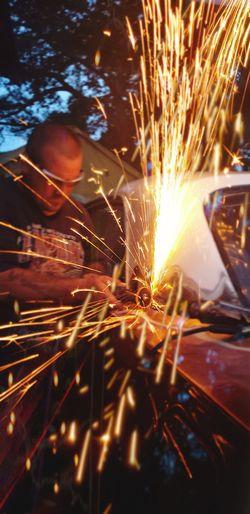 welding with Tim Lazzaro at Gracies Autobody and Restorations LLC #welder #welding #mechanical #auto  #automotive #automobil #cutlass #classic #muscle #photography #doubleexposure #EyeEmNewHere #light #LightTrails #fire #firework #beautiful #art #likeforlike #likemyphoto #qlikemyphotos #like4like #likemypic #likeback #ilikeback #10likes #50likes #100likes #20likes #likere #Thuggin #Business #mechanic #vehicle Metal Industry Manual Worker Working Factory Golf Club Welder Industry Occupation Illuminated Steel First Eyeem Photo