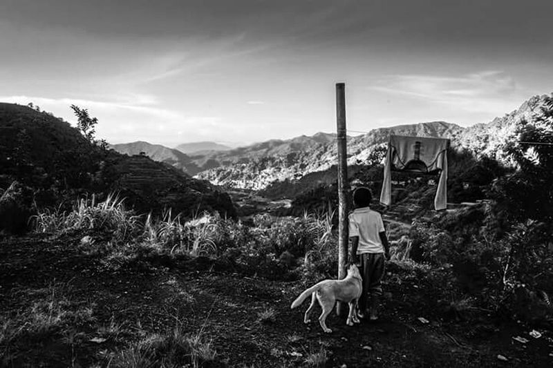 enoying the view of BAnaue rice terracesCreative Light And Shadow Capturing A Mood Precious Moments Of Life Enjoying Life Taking Photos Open This Week On Eye Em Blackandwhite Photography Everyday Life