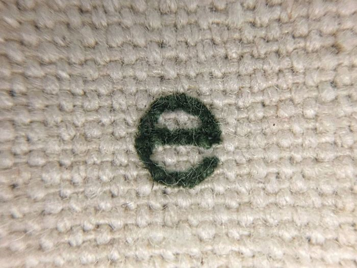 E Alphabet Fabric Textures And Surfaces Old Fashion Typography Letters Letter E Canvas Macro Macro Photography