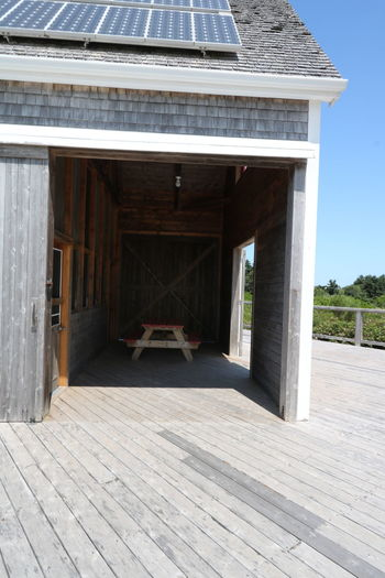 Architecture Bench Building Exterior Built Structure Day No People No People, Nova Scotia, Canada Outdoors Picnic Area Roof Sky Wood - Material