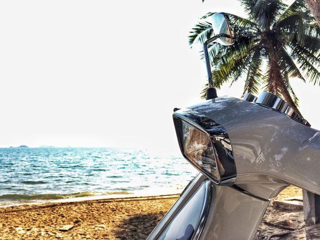 Long time no sea Sea Beach Outdoors Vespa S125 Rayong,Thailand Mamafaka First Eyeem Photo
