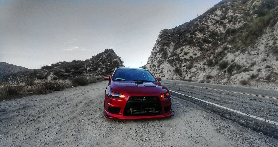 Car Mitsubishi EVO X Landscape EyeEme Carporn EvolutionX JDM Cars Clean Car Mountain Red No People Road Day Outdoors Sky Nature Beauty In Nature
