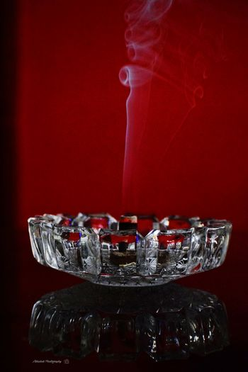 Incense Sticks Glass - Material Reflections Dhoopstick Clicked On Nikon D3300 Red Close-up Transparent Crystal Crystal Glassware