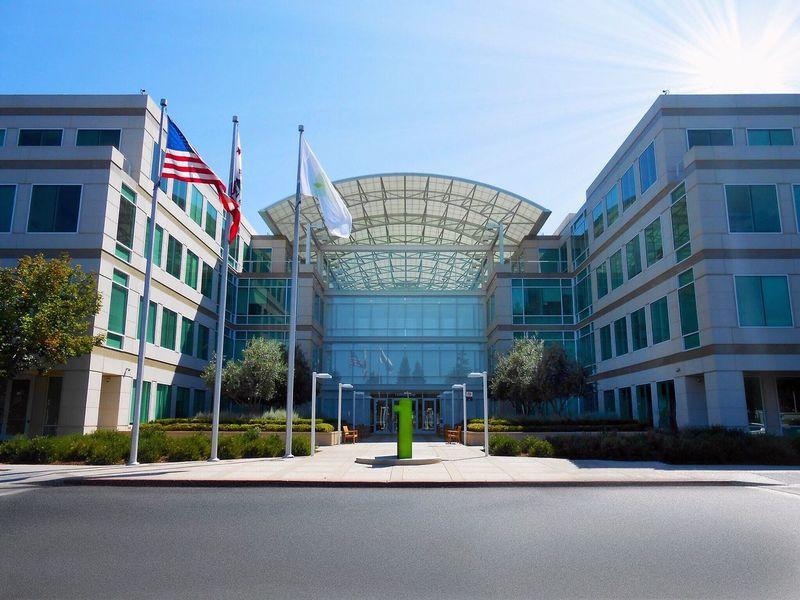 Apple Campus in Cupertino California 1InfiniteLoop