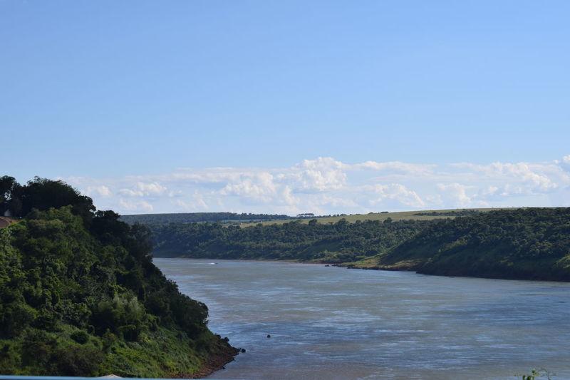 Argentina Brazil International Landmark Nature Outdoors Paraguay River Tree