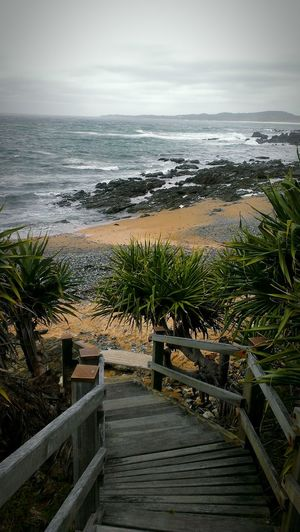 Post storm beach Minniewater Australia
