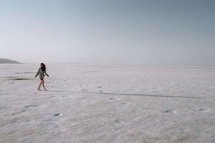 Seek and explore. 35mm Film Film Photography Filmisnotdead Analogue Photography Explore Seek Salt Flat Full Length One Person Land Real People Walking Scenics - Nature Women Tranquil Scene Outdoors Solitude Tranquility