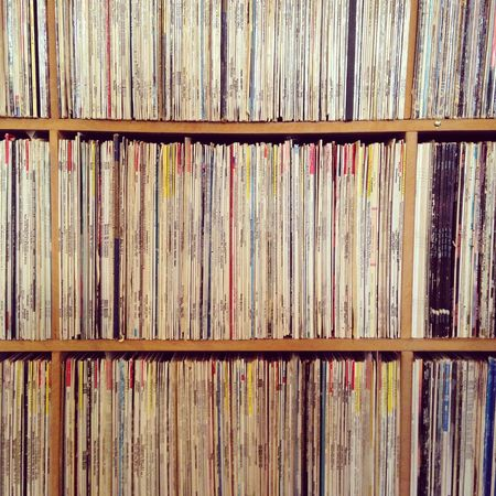 Record collection. Vinyl Records Collection Shelves