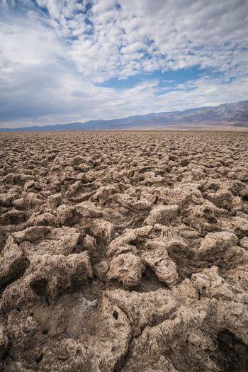 Devils Golf Course Death Valley Desert Landscape California Love California Beauty In Nature Nature Outdoors Rocky Salt Endless USAtrip USA