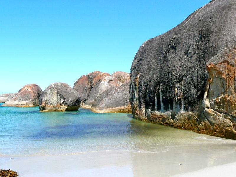 Bassalt Beach Beauty In Nature Clear Sky Elephant Rocks Geology Granite Rocks
