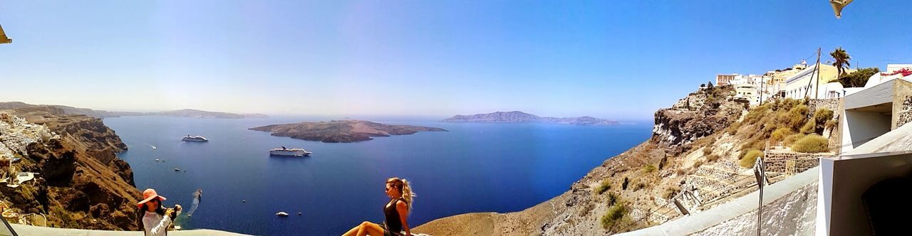 Reflection Travel Water Lake Tourism Travel Destinations Fog Sky Scenics Outdoors Day No People Santorini Greece Lifestyles Vacations Beauty In Nature Nature Adults Only Women