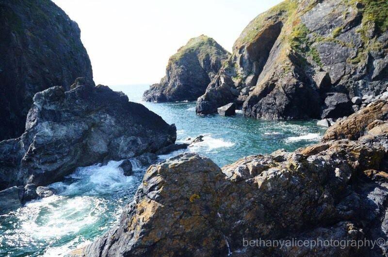 Cornwall Rocks Nature Sea Beauty