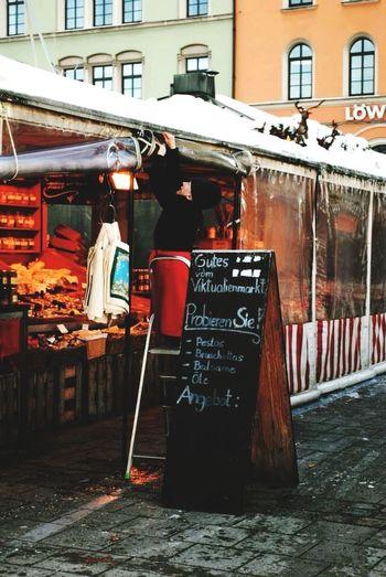 Market Good Morning Neujahr in Munich