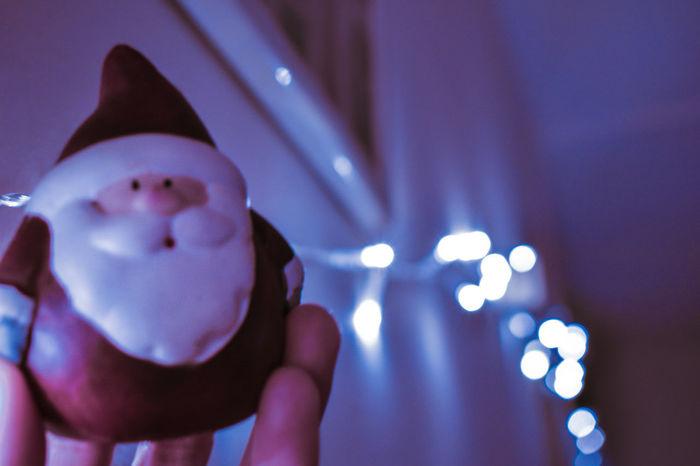 my little Santa Christmas Decoration Christmas Lights Christmastime Santa Claus Bokeh Photography Nightphotography Christmas Lights Nikon Illuminated EyeEm Selects EyeEmNewHere