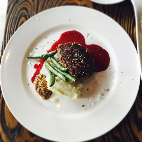bleeding love?! Heartshaped Steak Plate Food Ready-to-eat Indoors  Heartshaped Red It Was Great!