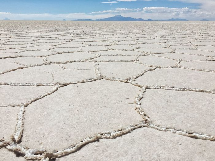 Uyuni Salt Flats Salt Outdoors Travel On A Holiday Uyuni Bolivia Traveling IPhoneography Nature Mountains Clouds
