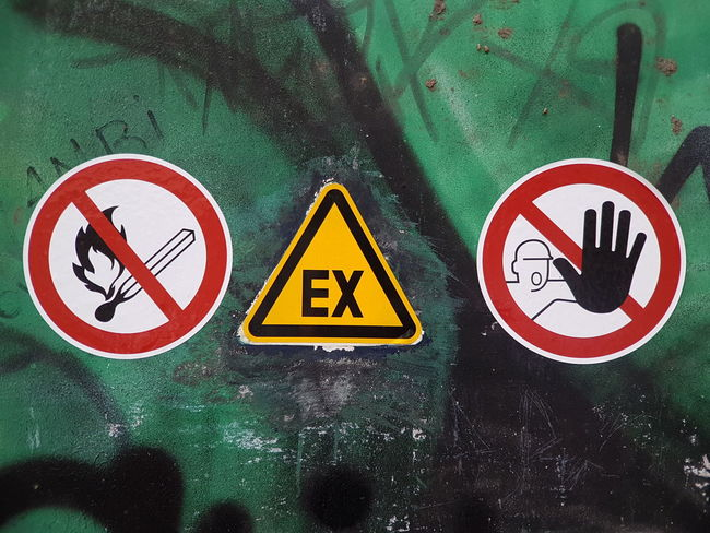 Warning Sign Road Sign Communication Sign Information Sign Warning Symbol Symbol ExploreEverything The Ex X Ex No Fire Sign No Fire Attention Warning Warningsign Hands Warning Signs  Background Fassade Explosion