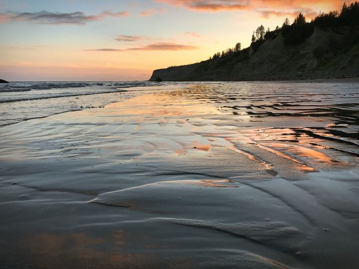Sunset Sea Nature Scenics Water Tranquility Sky Beauty In Nature Beach Tranquil Scene No People Outdoors Sand Cloud - Sky Landscape Day Alaska